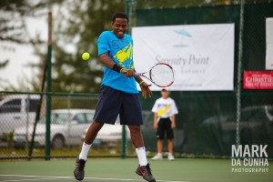 Bahamian Davis Cupper Marvin Rolle. mark-signing-autographs. The Mark Knowles Celebrity Tennis Invitational ...